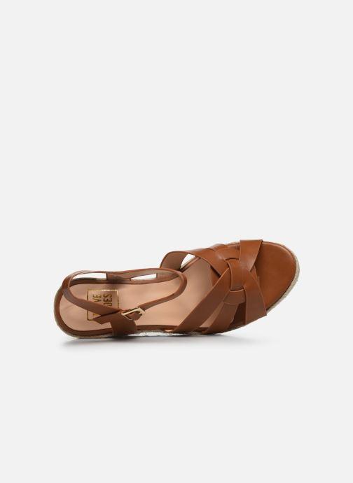 Alpargatas I Love Shoes CAMONE Marrón vista lateral izquierda