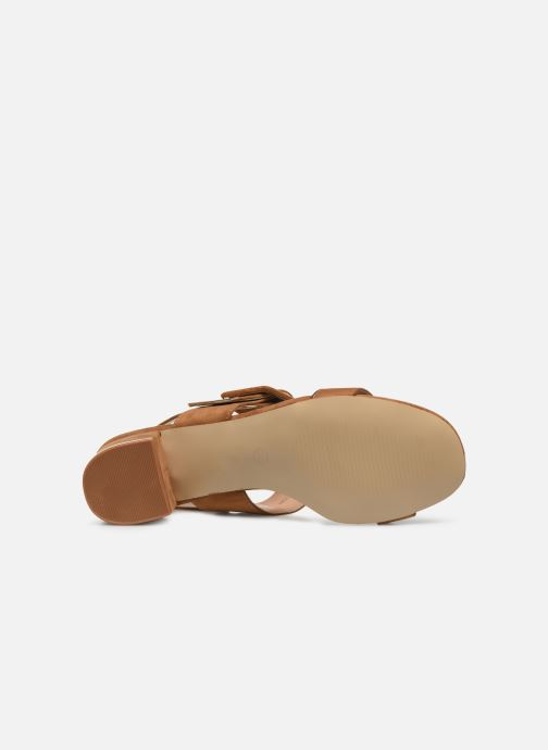 Sandalias I Love Shoes CACTOS Marrón vista de arriba