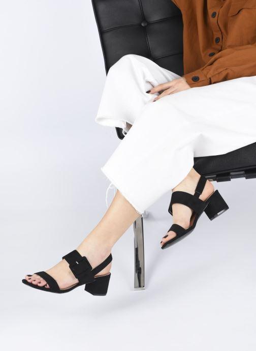 Sandales et nu-pieds I Love Shoes CACTOS Noir vue bas / vue portée sac