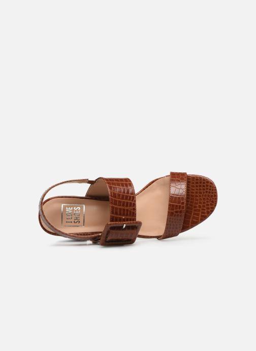 Sandalias I Love Shoes CACTOS Marrón vista lateral izquierda