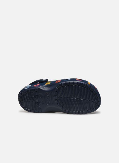 Mules et sabots Crocs Classic Vacay Vibes Clog Bleu vue haut