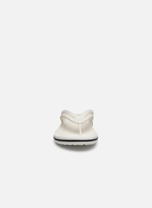 Tongs Crocs Crocband Flip II W Blanc vue portées chaussures