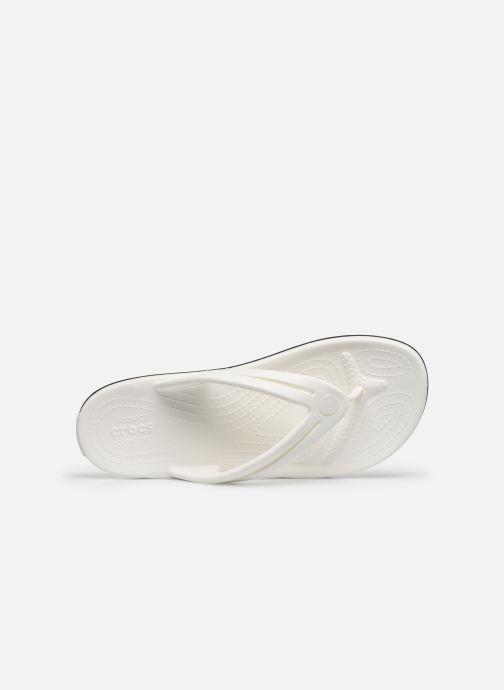Tongs Crocs Crocband Flip II W Blanc vue gauche