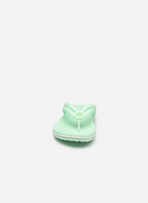 Zehensandalen Crocs Crocband Flip II W grün schuhe getragen