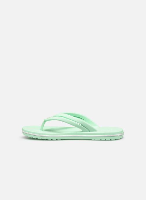 Zehensandalen Crocs Crocband Flip II W grün ansicht von vorne