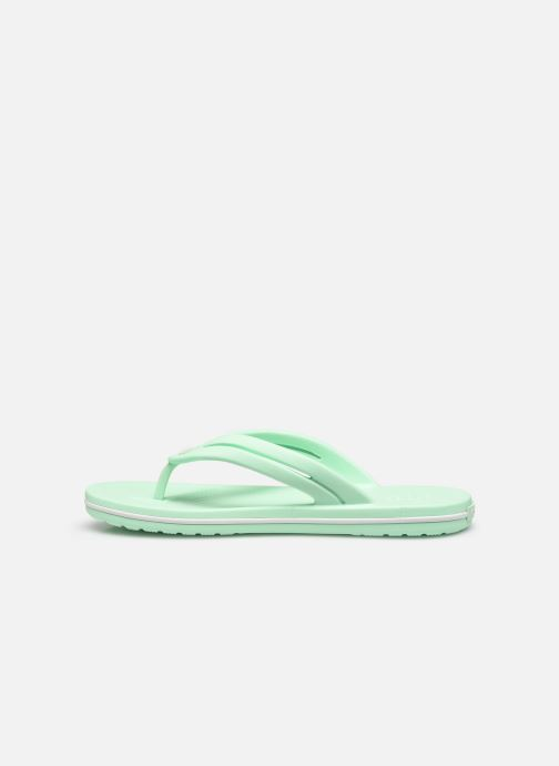 Chanclas Crocs Crocband Flip II W Verde vista de frente