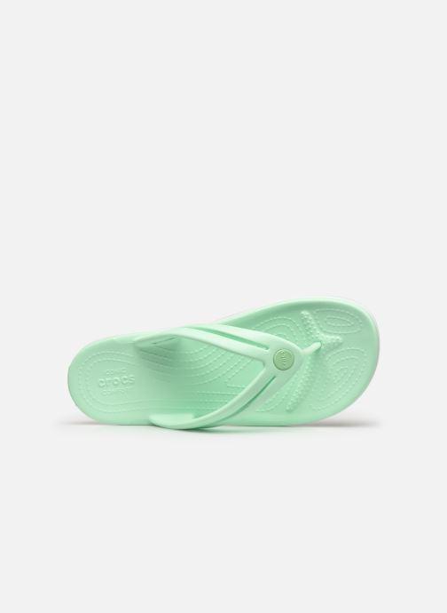 Tongs Crocs Crocband Flip II W Vert vue gauche