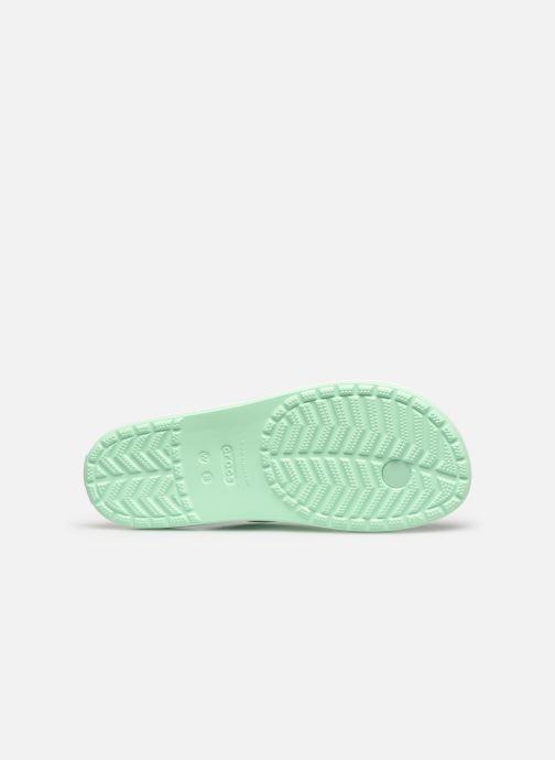 Zehensandalen Crocs Crocband Flip II W grün ansicht von oben
