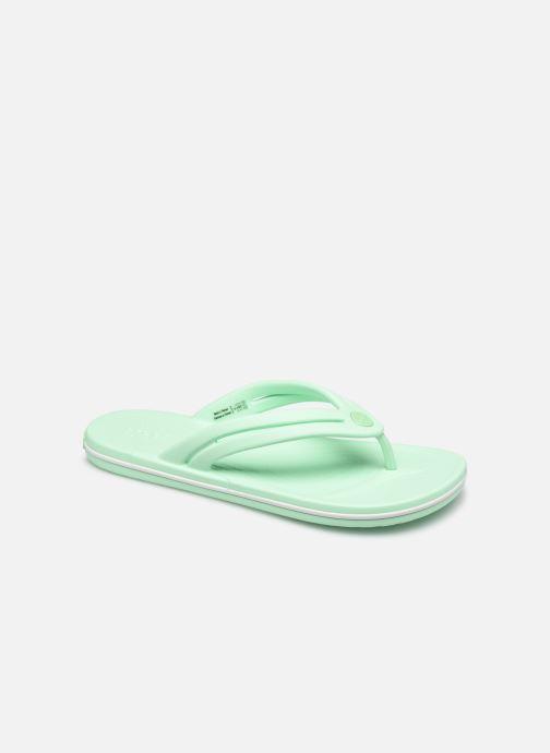 Chanclas Crocs Crocband Flip W Verde vista de detalle / par