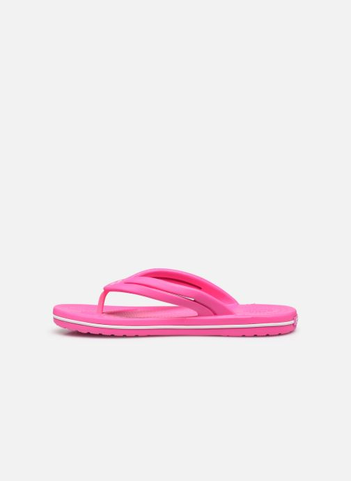 Tongs Crocs Crocband Flip II W Rose vue face