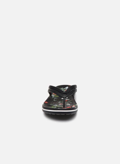 Tongs Crocs Crocband Botanical Print Flip W Noir vue portées chaussures