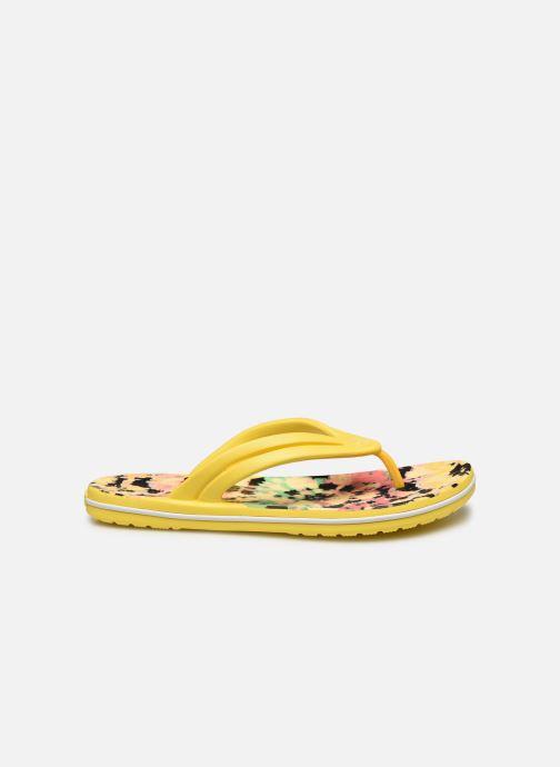 Tongs Crocs Crocband Tie Dye Mania Flip W Jaune vue derrière