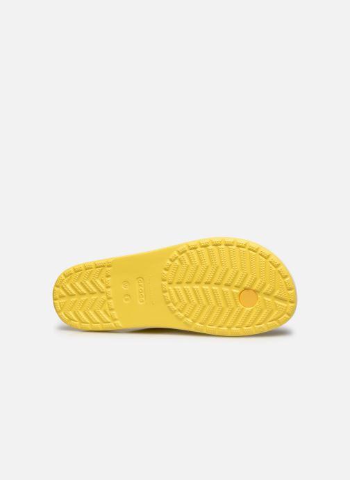 Tongs Crocs Crocband Tie Dye Mania Flip W Jaune vue haut