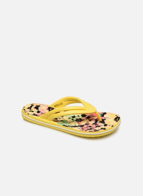Tongs Crocs Crocband Tie Dye Mania Flip W Jaune vue détail/paire