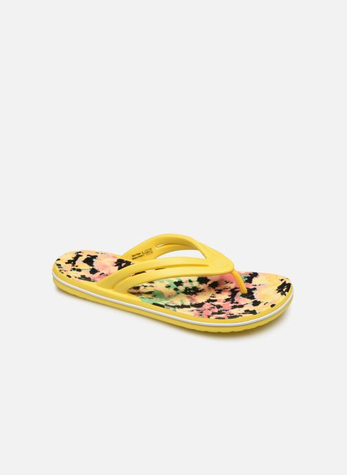 Chanclas Crocs Crocband Tie Dye Mania Flip W Amarillo vista de detalle / par