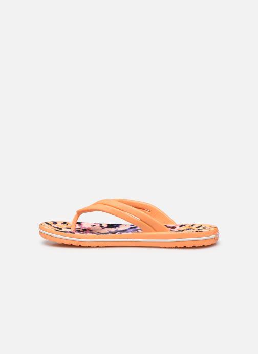 Chanclas Crocs Crocband Tie Dye Mania Flip W Naranja vista de frente