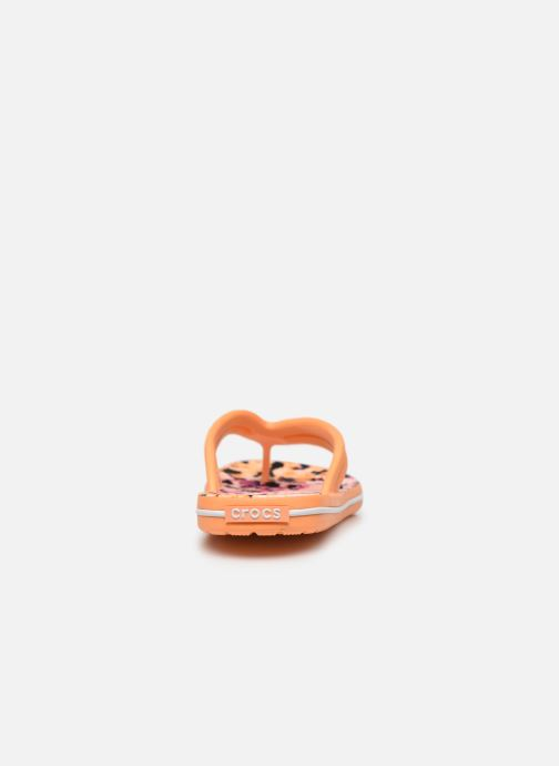 Chanclas Crocs Crocband Tie Dye Mania Flip W Naranja vista lateral derecha
