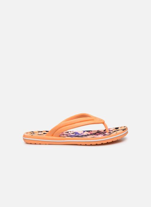 Chanclas Crocs Crocband Tie Dye Mania Flip W Naranja vistra trasera