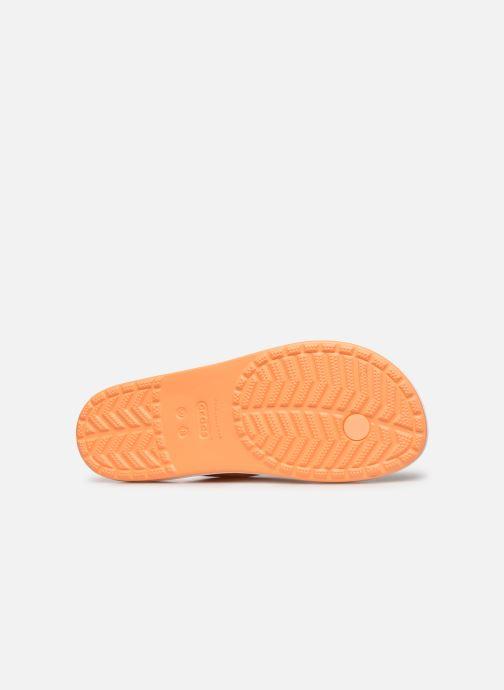 Chanclas Crocs Crocband Tie Dye Mania Flip W Naranja vista de arriba