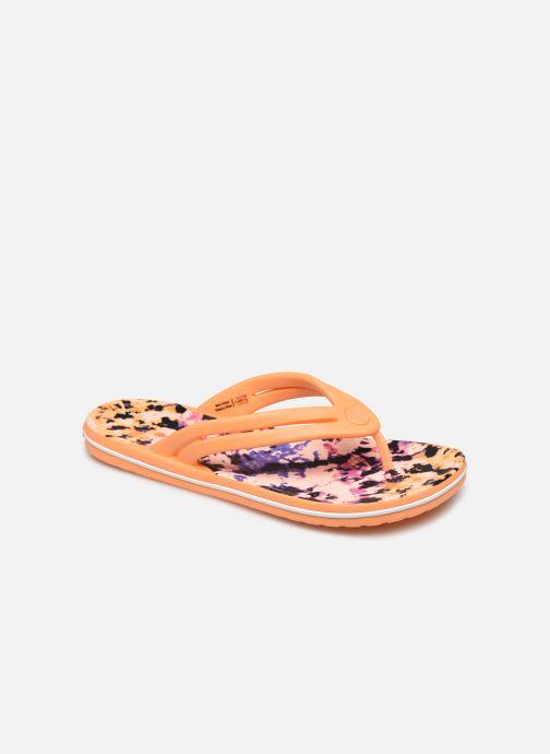 Chanclas Crocs Crocband Tie Dye Mania Flip W Naranja vista de detalle / par
