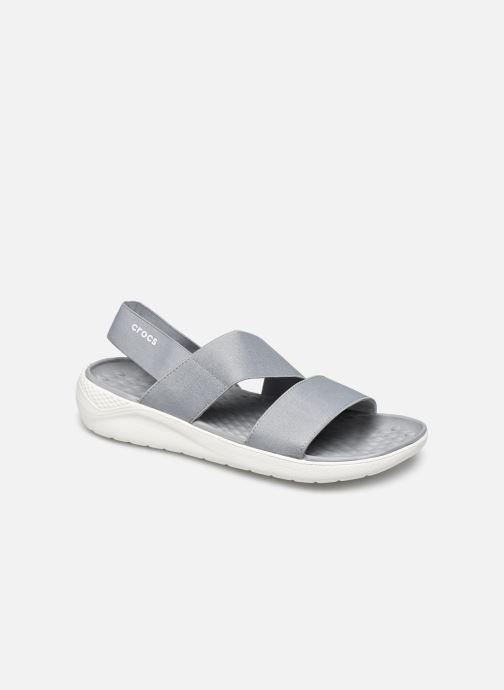 Sandalias Crocs LiteRide Stretch Sandal W Gris vista de detalle / par