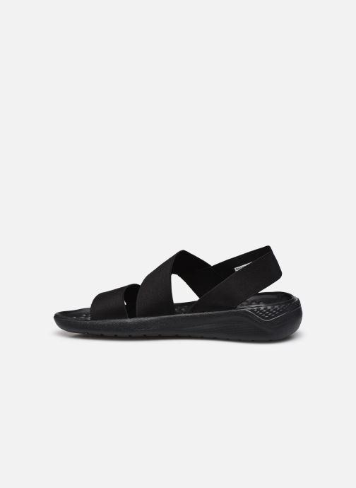 Sandalias Crocs LiteRide Stretch Sandal W Negro vista de frente