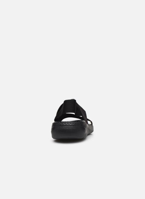 Sandalias Crocs LiteRide Stretch Sandal W Negro vista lateral derecha
