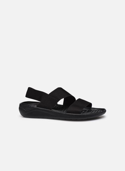 Sandalias Crocs LiteRide Stretch Sandal W Negro vistra trasera