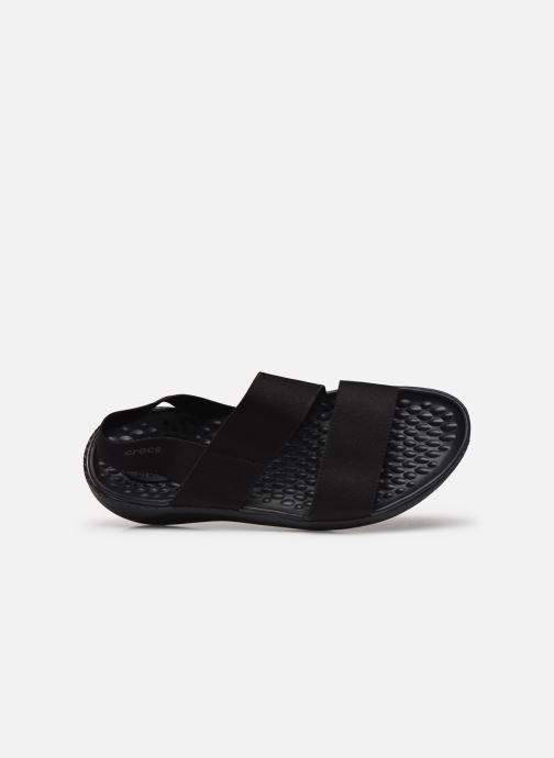 Sandalias Crocs LiteRide Stretch Sandal W Negro vista lateral izquierda