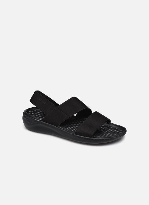 Sandalias Crocs LiteRide Stretch Sandal W Negro vista de detalle / par