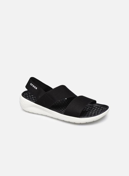 Crocs LiteRide Stretch Sandal W (Noir) Sandales et nu