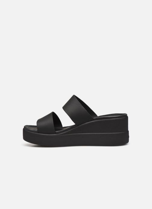 Clogs & Pantoletten Crocs Crocs Brooklyn Mid Wedge W schwarz ansicht von vorne