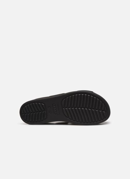Zuecos Crocs Crocs Brooklyn Mid Wedge W Negro vista de arriba