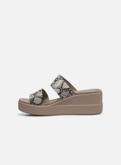 Mules et sabots Crocs Crocs Brooklyn Mid Wedge W Gris vue face