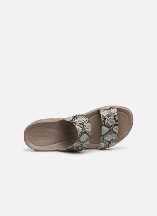 Clogs & Pantoletten Crocs Crocs Brooklyn Mid Wedge W grau ansicht von links