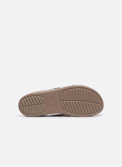 Clogs & Pantoletten Crocs Crocs Brooklyn Mid Wedge W grau ansicht von oben