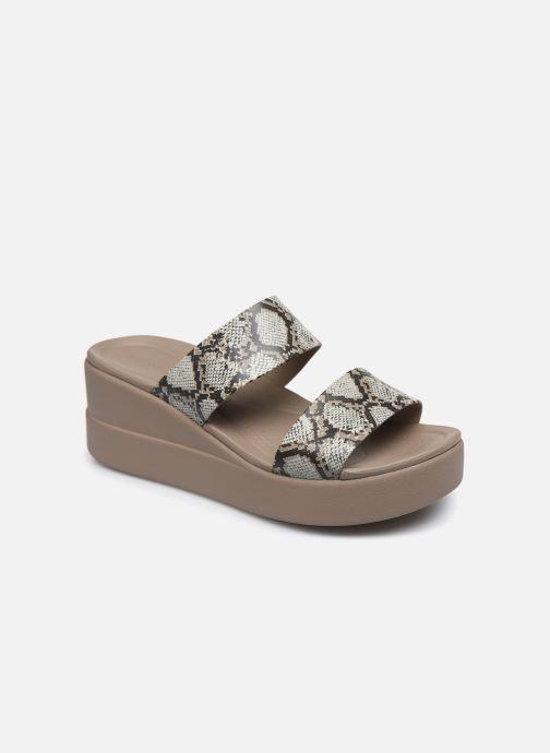 Clogs & Pantoletten Crocs Crocs Brooklyn Mid Wedge W grau detaillierte ansicht/modell