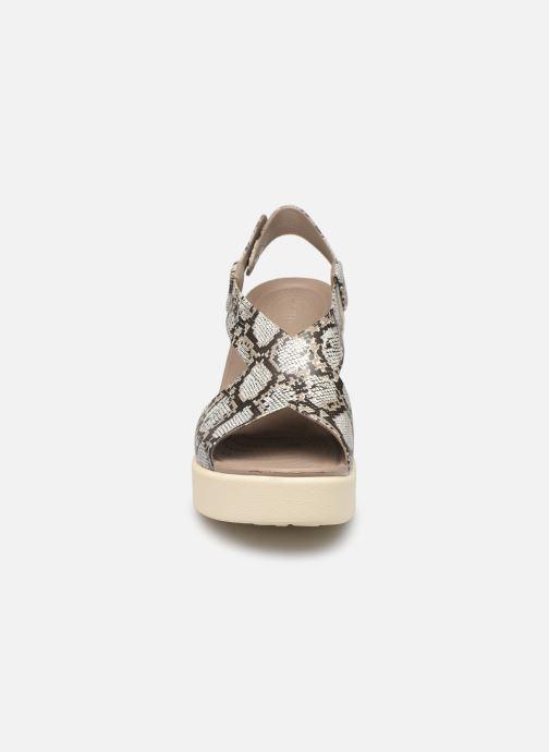 Sandales et nu-pieds Crocs Crocs Brooklyn High Wedge W Gris vue portées chaussures