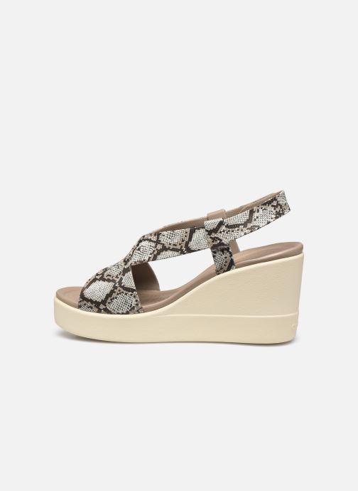 Sandales et nu-pieds Crocs Crocs Brooklyn High Wedge W Gris vue face