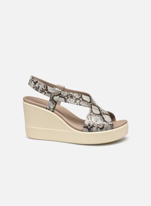 Sandales et nu-pieds Crocs Crocs Brooklyn High Wedge W Gris vue derrière