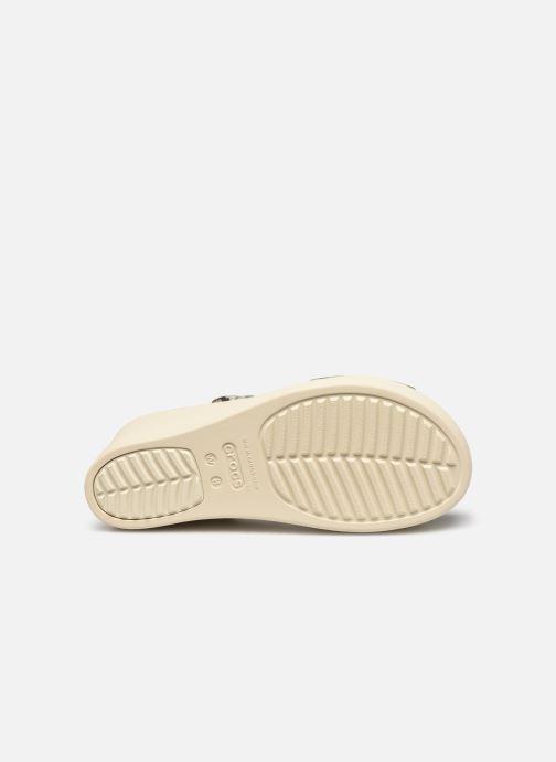 Sandales et nu-pieds Crocs Crocs Brooklyn High Wedge W Gris vue haut