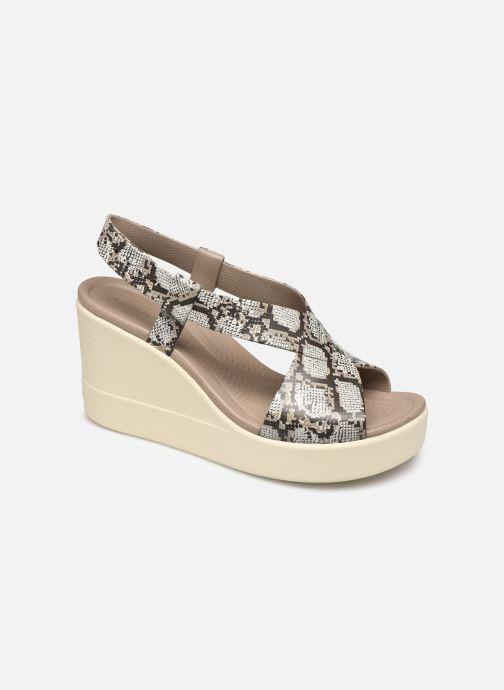 Sandales et nu-pieds Crocs Crocs Brooklyn High Wedge W Gris vue détail/paire