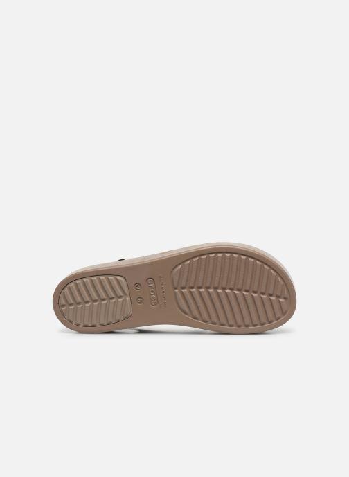 Sandalias Crocs Crocs Brooklyn Low Wedge W Negro vista de arriba