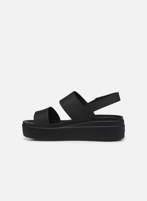 Sandali e scarpe aperte Crocs Crocs Brooklyn Low Wedge W Nero immagine frontale