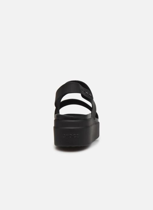 Sandali e scarpe aperte Crocs Crocs Brooklyn Low Wedge W Nero immagine destra