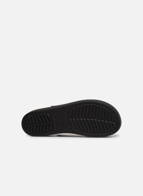 Sandali e scarpe aperte Crocs Crocs Brooklyn Low Wedge W Nero immagine dall'alto