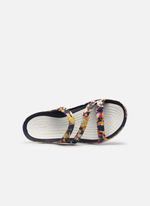 Mules et sabots Crocs Swiftwater TieDye Mania Sndl W Multicolore vue gauche