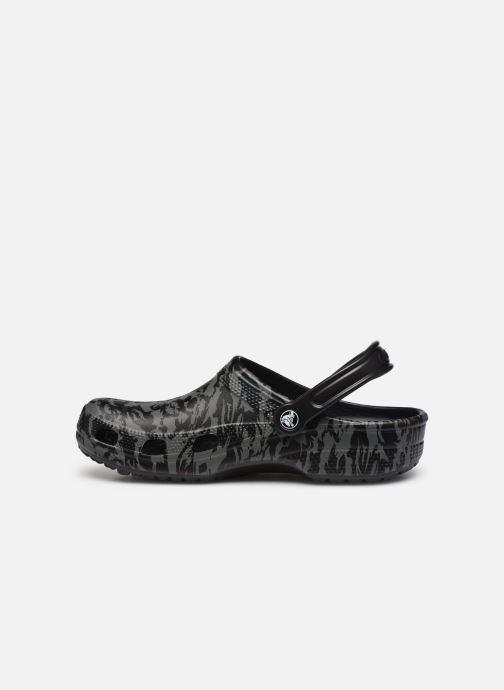 Sandalias Crocs Classic Printed Camo Clog Negro vista de frente
