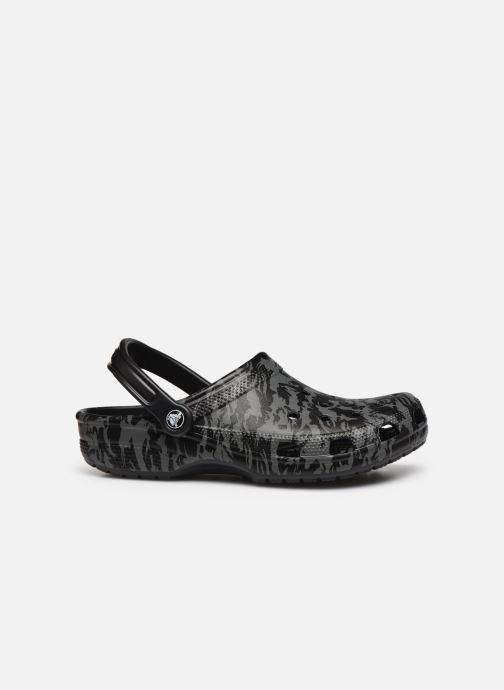Sandalias Crocs Classic Printed Camo Clog Negro vistra trasera