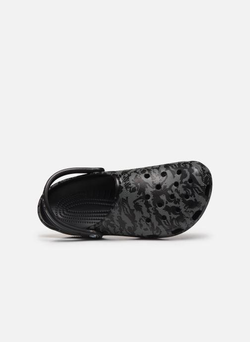 Sandales et nu-pieds Crocs Classic Printed Camo Clog Noir vue gauche